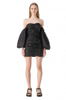Платье-бюстье с рукавами-буфами