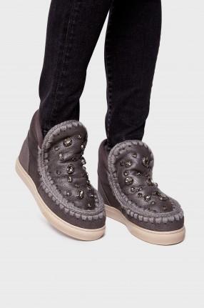 MOU Ботинки в стразах