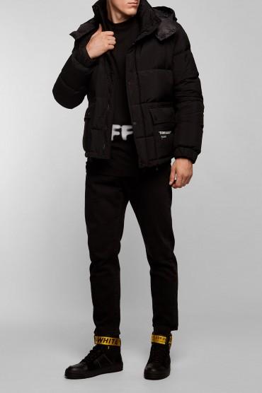 Пуховик с принтом OFF-WHITE OFWm28013