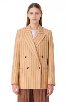 Двубортный пиджак oversize в полоску