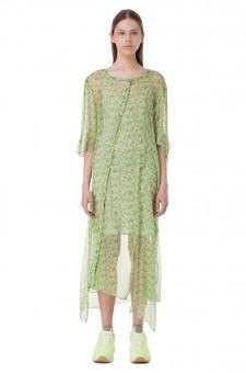 Асимметричное платье с цветочным принтом