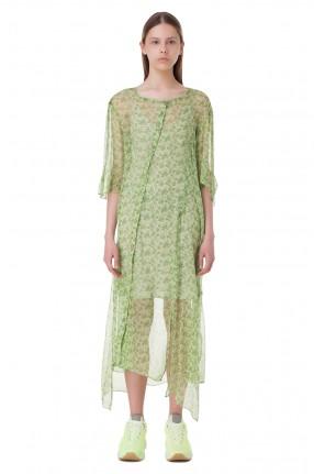 ACNE STUDIOS Асимметричное платье с цветочным принтом