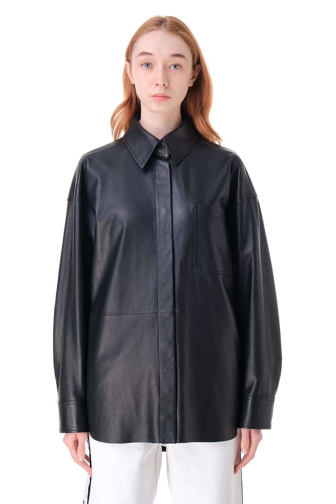 Кожаная рубашка ACNE STUDIOS ACw11007