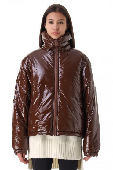 Лакированная куртка FACE ACNE STUDIOS ACw21001