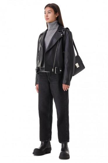 Кожаная куртка косуха ACNE STUDIOS ACw21015