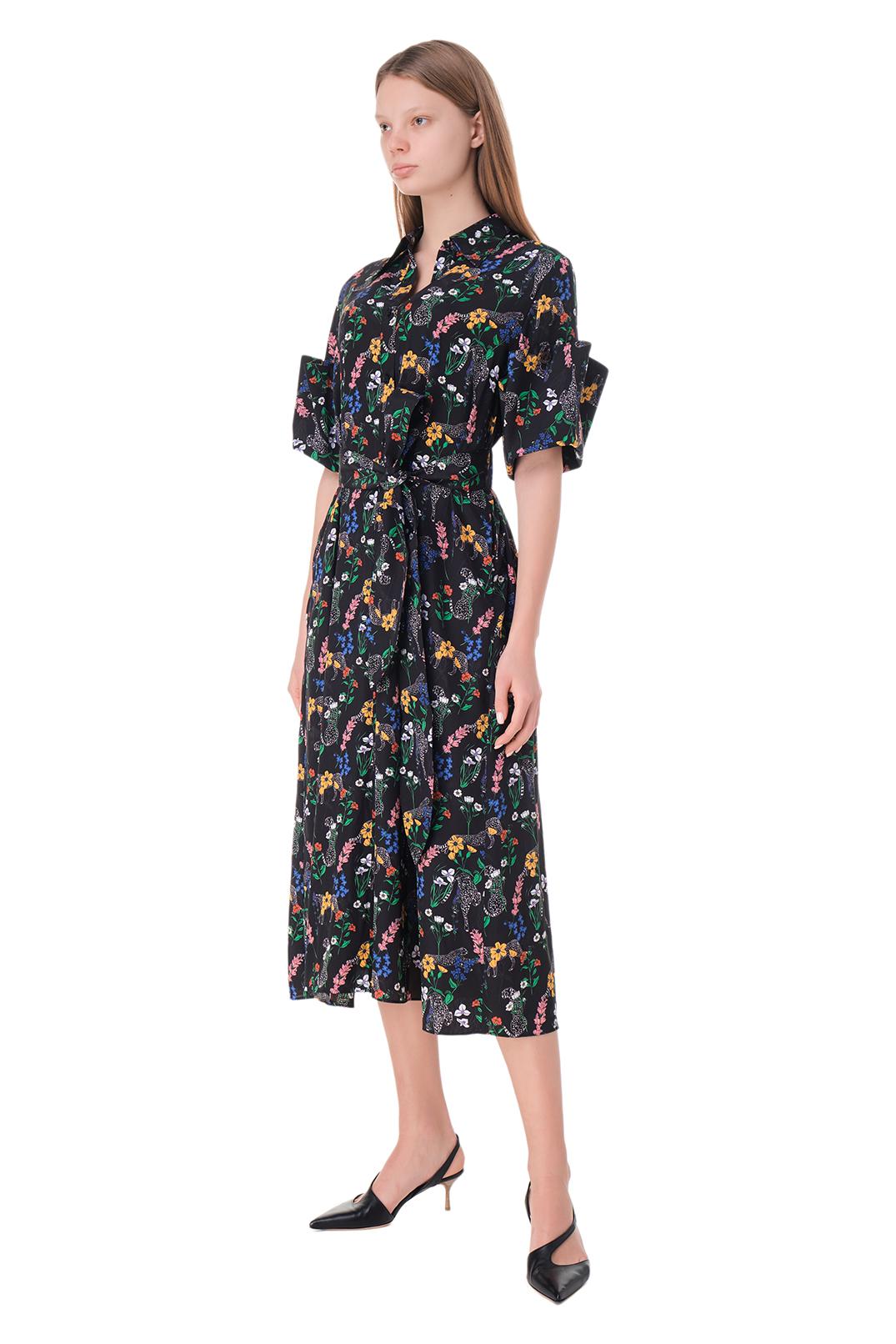 Платье-рубашка с принтом AKIRA NAKA AKI11006