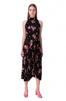 Плиссированное платье с цветочным принтом Renzo