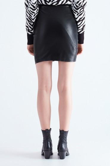 Кожаная юбка с воланом A.L.C. ALC29011