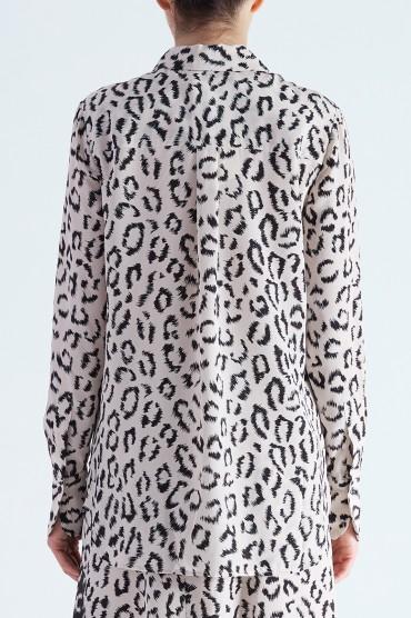 Блуза с анималистическим принтом A.L.C. ALC29013