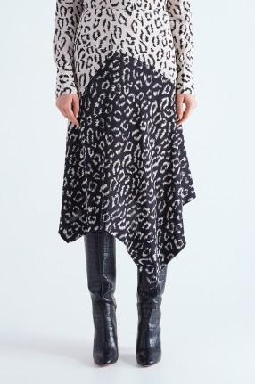 A.L.C. Асимметричная юбка с анималистическим принтом