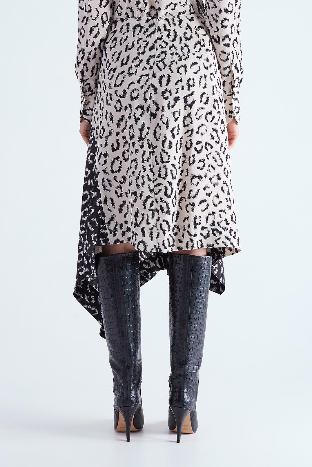 Асимметричная юбка с анималистическим принтом A.L.C. ALC29014