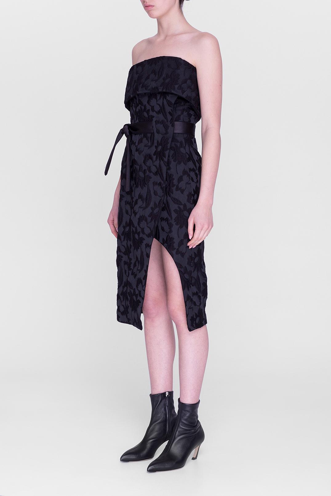 Жаккардовое платье-бюстье ALEXIS ALEX29008