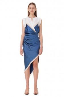Драпированное асимметричное платье