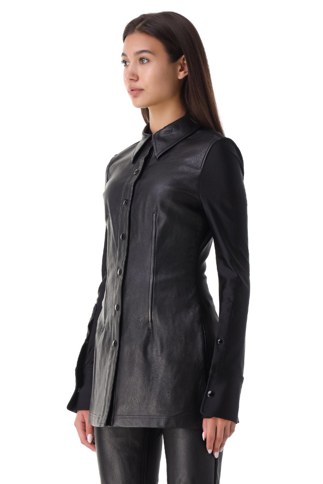 Кожаная рубашка ALEXANDER WANG ALW21007