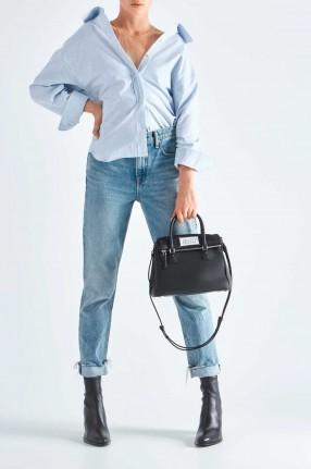 ALEXANDERWANG Рубашка в полоску со спущенными рукавами