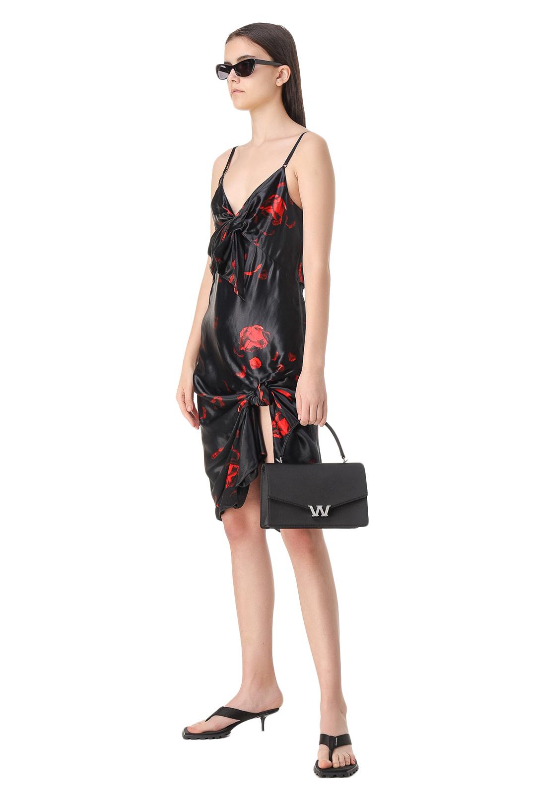 Платье-комбинация с принтом ALEXANDER WANG ALWw11009