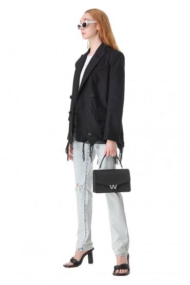 Двубортный джинсовый пиджак ALEXANDER WANG ALWw11012
