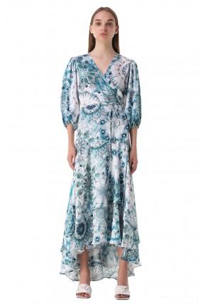ALEXIS Платье с принтом на запах
