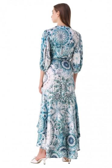 Платье с принтом на запах ALEXIS ALXp21012