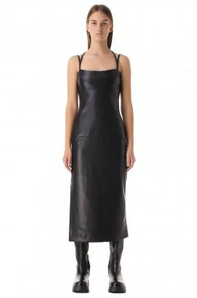 ALEXIS Платье-комбинация из эко-кожи