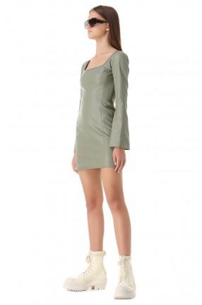 ALEXIS Платье из эко-кожи
