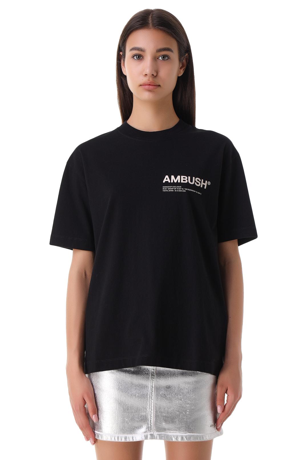 Футболка oversize с логотипом AMBUSH AMB21004