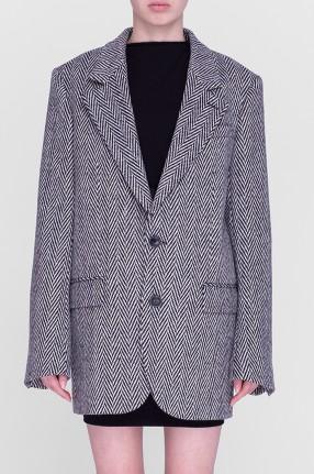 AMI Удлиненный пиджак oversize в елочку