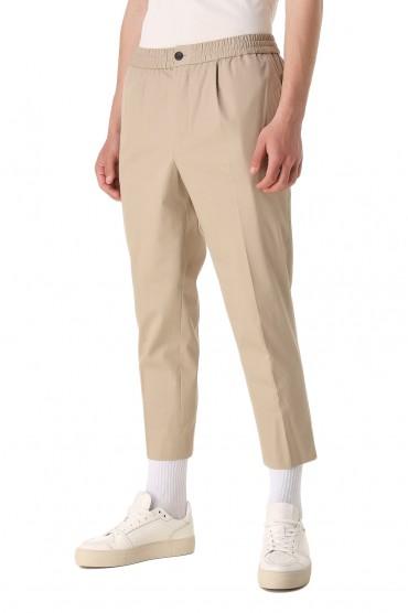 Укороченные брюки с эластичным поясом AMI PARIS AMIm11001