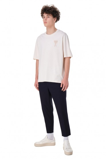 Укороченные брюки с эластичным поясом AMI PARIS AMIm11002