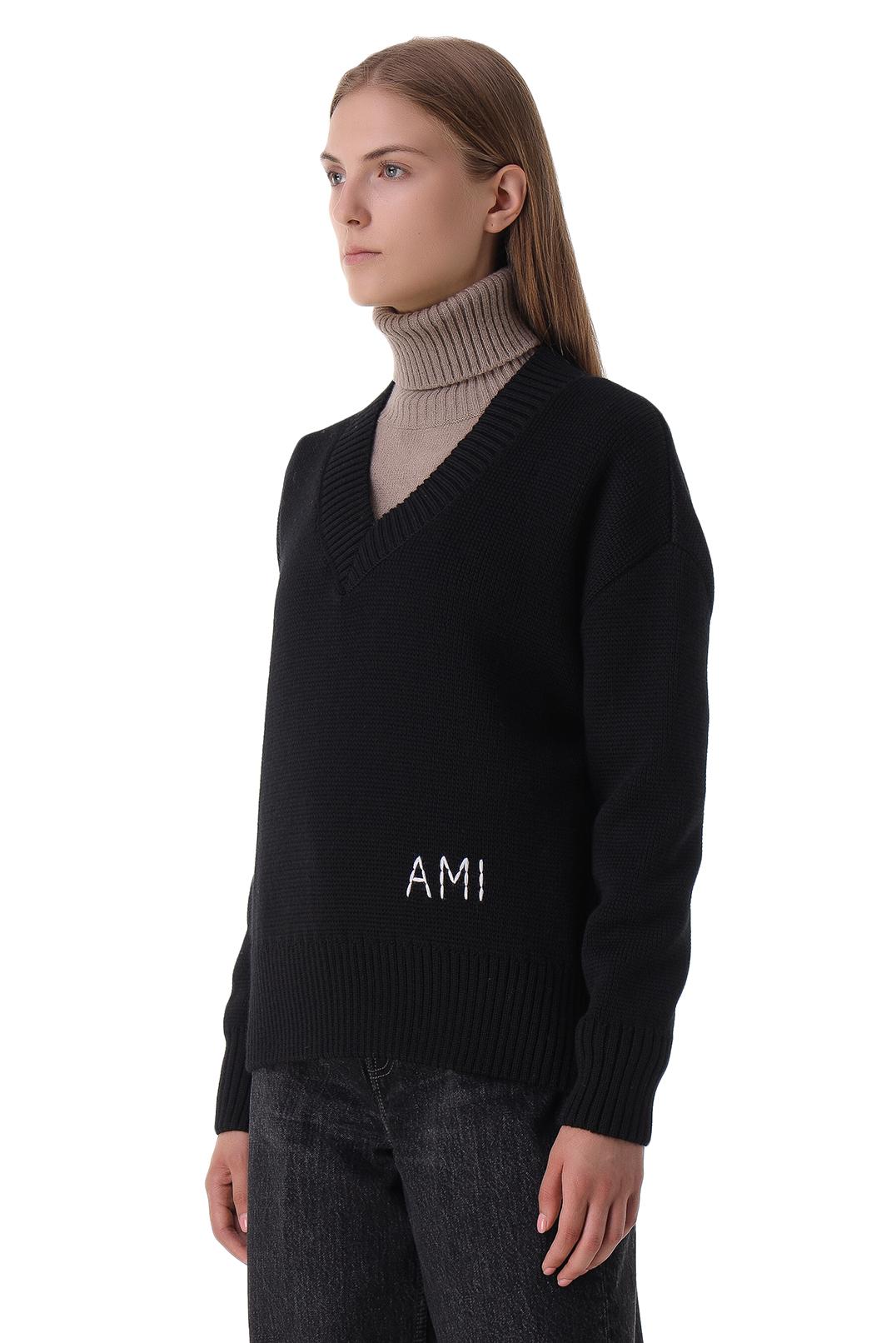 Свитер с логотипом AMI PARIS AMIw21012