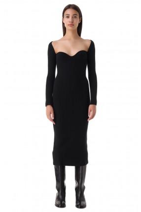 ARCH4 Платье в рубчик