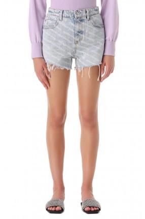 ALEXANDER WANG Джинсовые шорты в логотипах