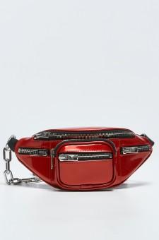 Лакированная сумка через плечо