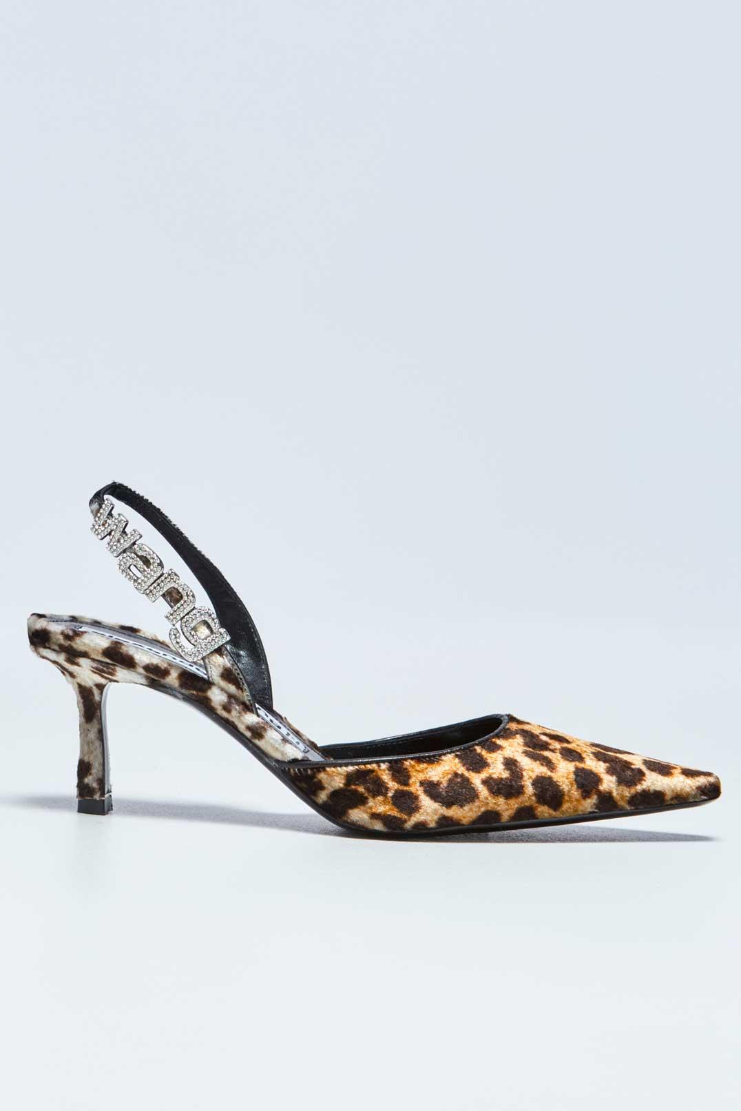 Леопардовые туфли с логотипом ALEXANDER WANG AWsh29003