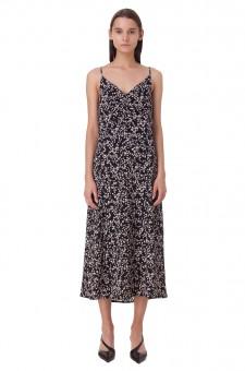 Платье комбинация с принтом
