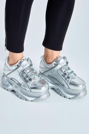 BUFFALO LONDON Серебряные кроссовки