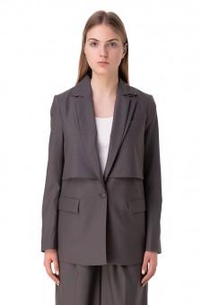 Пиджак c двойным воротником