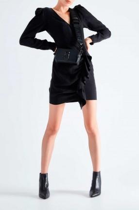 DESIGNERS REMIX Черное леопардовое платье