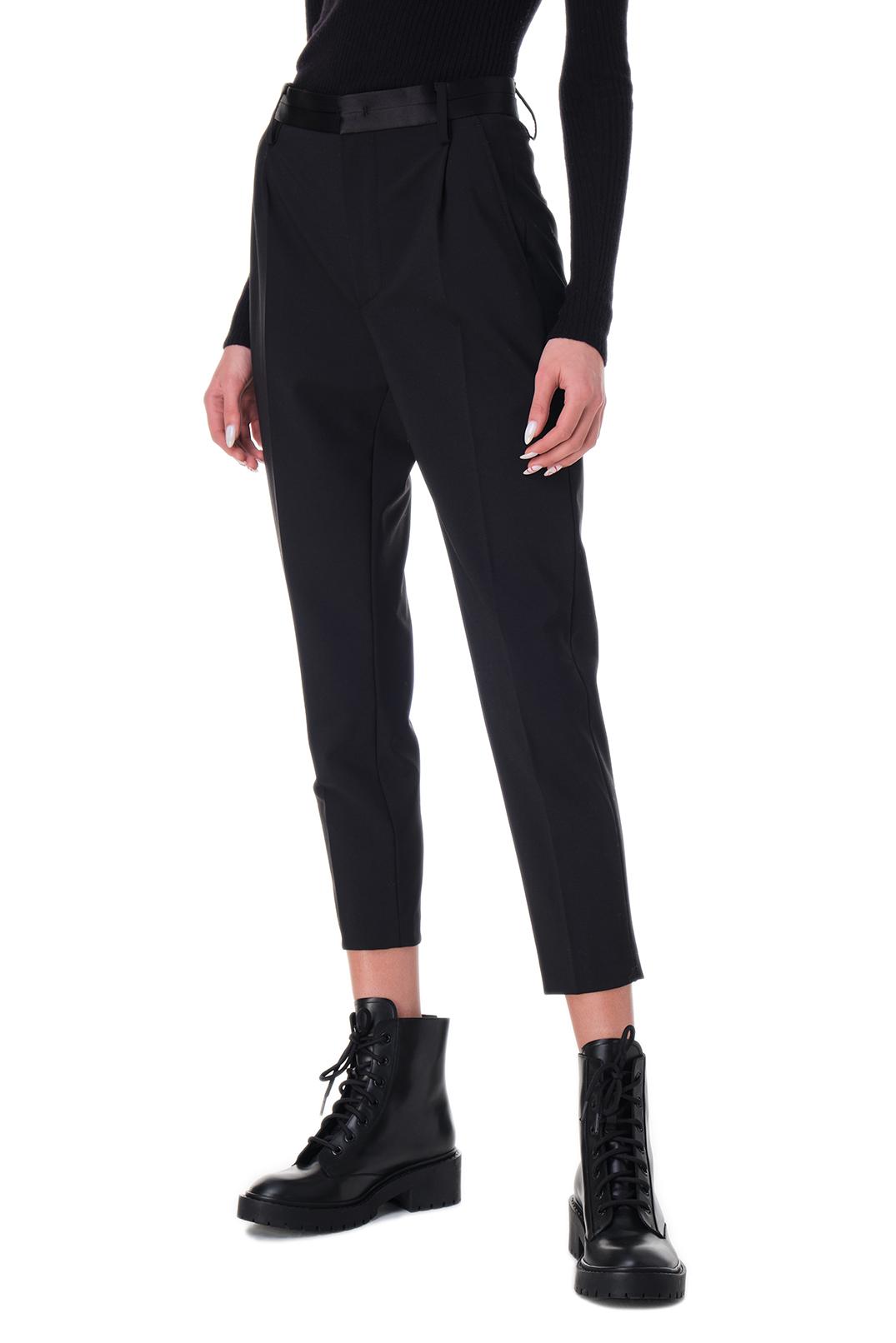 Укороченные брюки с защипами DONDUP DND20004