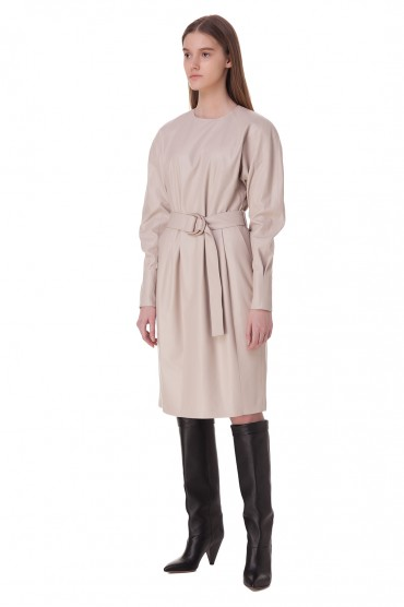 Кожаное платье DROME DRM20002