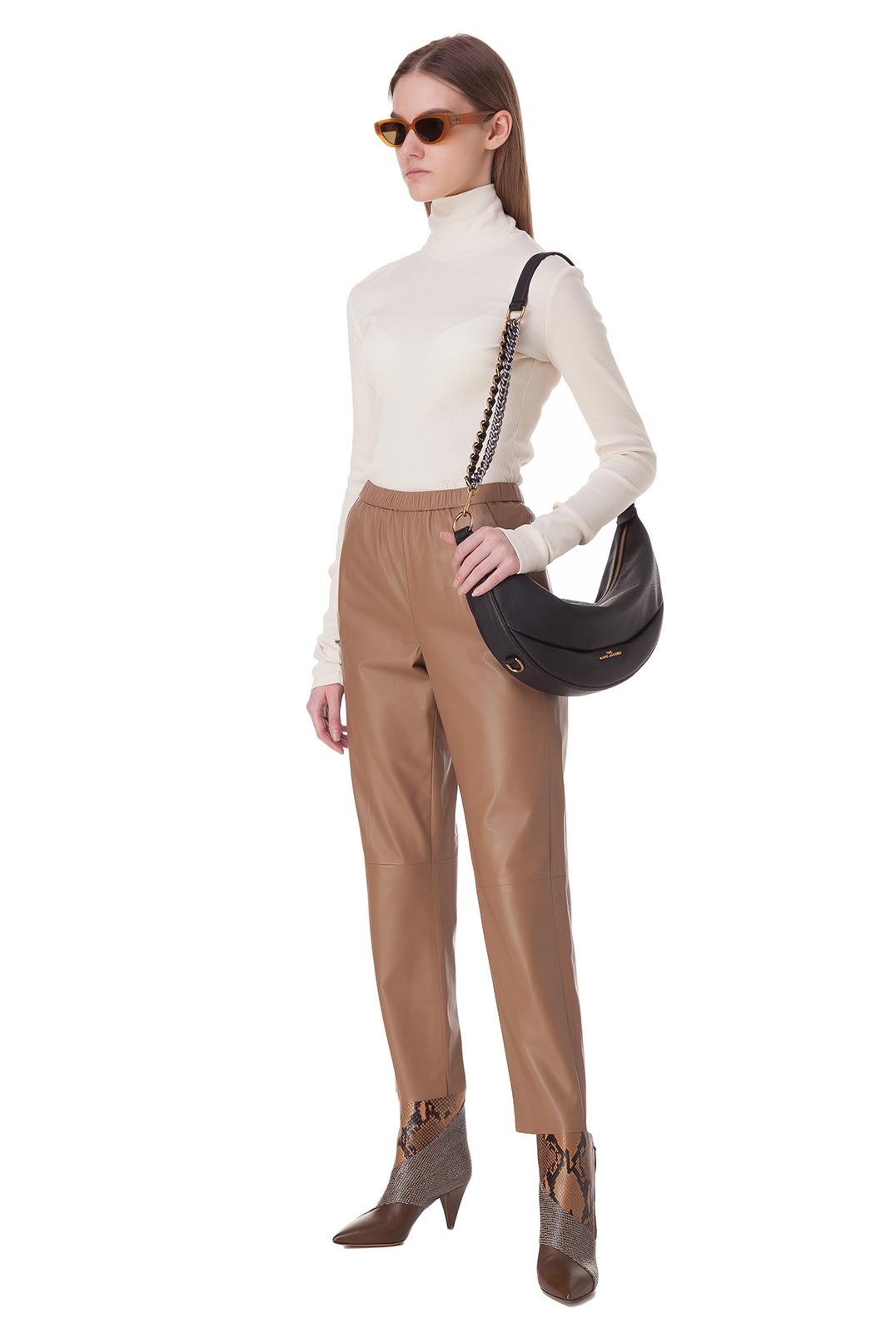 Укороченные кожаные брюки DROME DRM20004