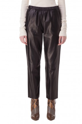 DROME Укороченные кожаные брюки
