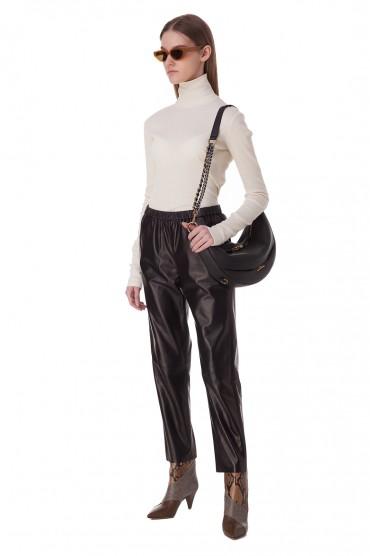 Укороченные кожаные брюки DROME DRM20005