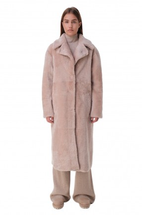 DROME Двустороннее пальто из овчины