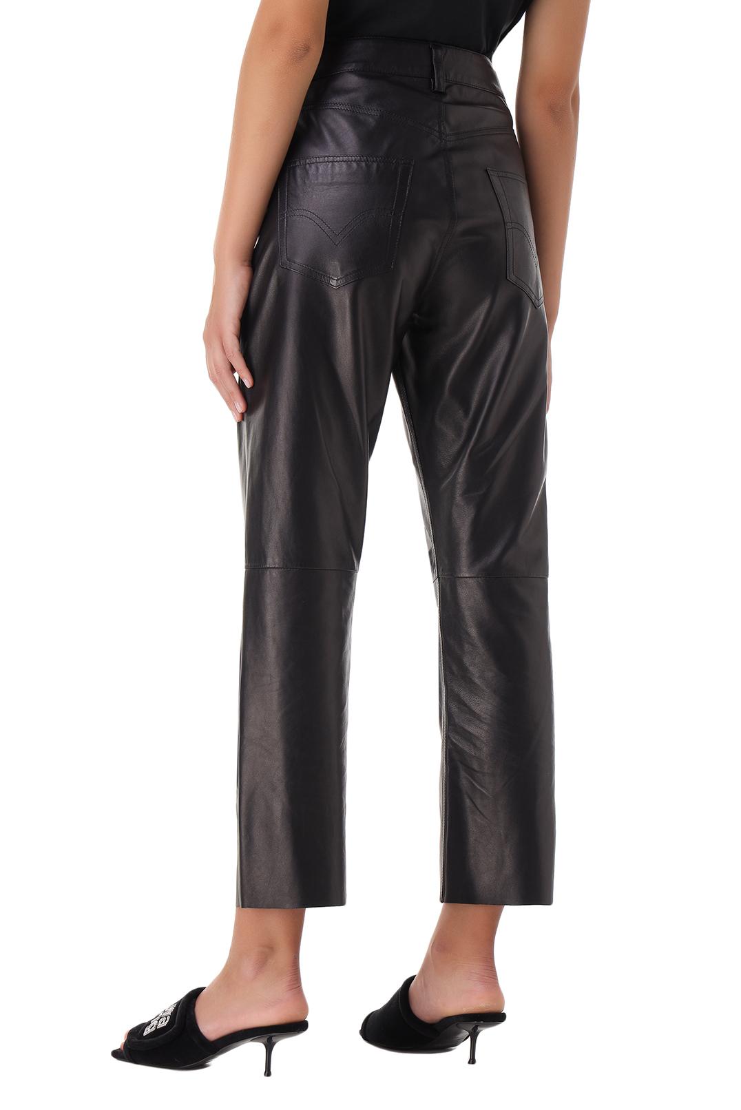 Укороченные кожаные брюки DROME DRM21010