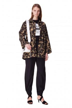 ESSENTIEL ANTWERP Джинсовая куртка с camo принтом