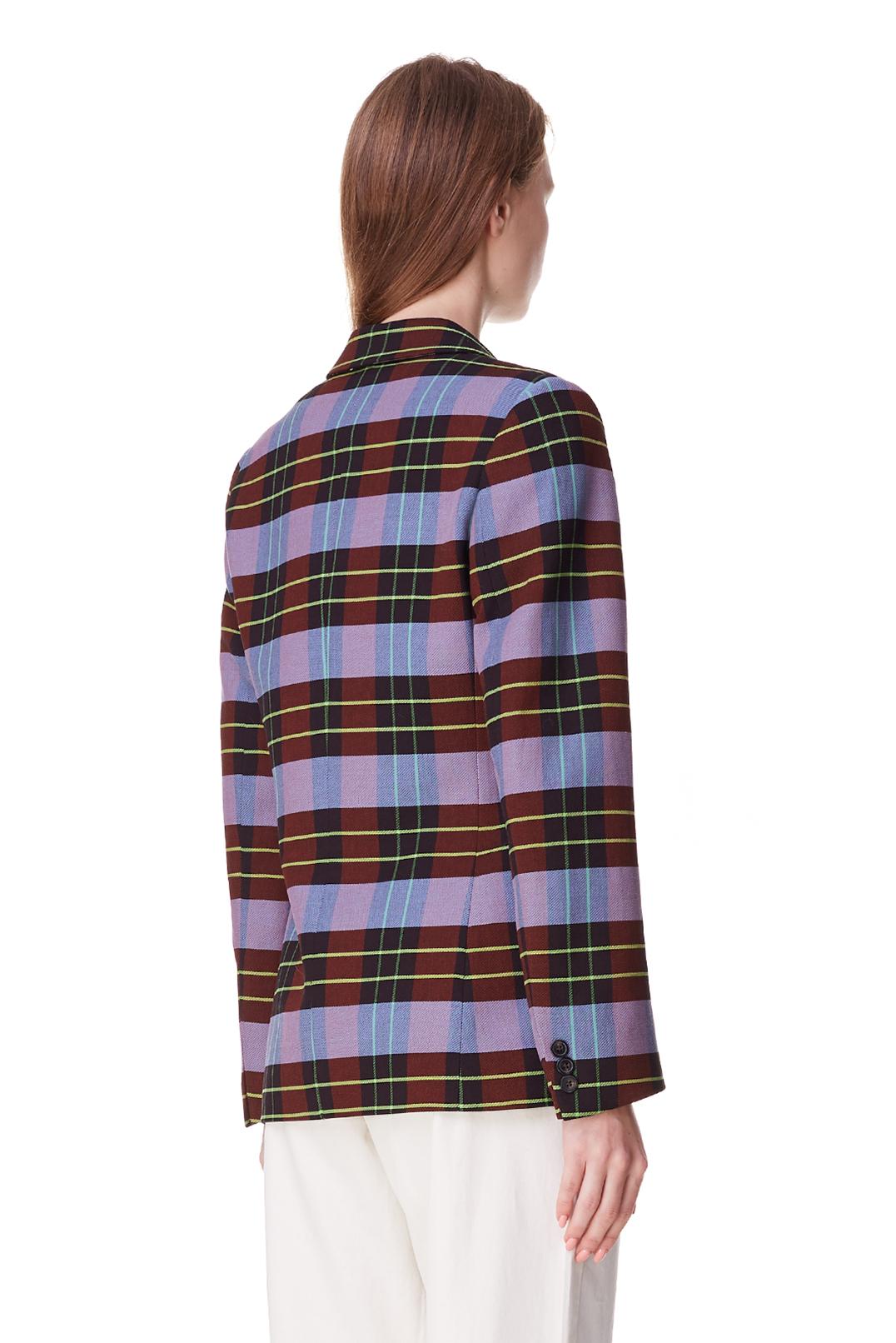 Двубортный пиджак в клетку ESSENTIEL ANTWERP ESAp10014