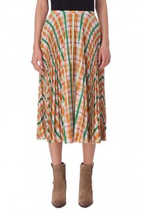 ESSENTIEL ANTWERP Плиссированная юбка с принтом