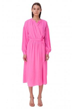 ESSENTIEL ANTWERP Платье на запах в горох