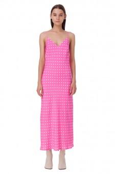 Платье-комбинация в горох